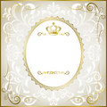 Abstract white romantic frame Royalty Free Stock Photos