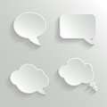 Abstract white speech bubbles set vector Stock Photos