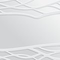 Abstract white wavy background design creativity of horizontal waves vector illustration eps Stock Image