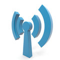 Abstract Wi-fi antenna. Stock Photo