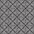 Abstract wicker black and white pattern. Seamless vector pattern.