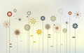 Abstract wild flowers desktop wallpaper d vector Royalty Free Stock Photo