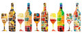 Abstract wine collection Royalty Free Stock Images