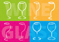 Abstract wine concept color glass Stock Photography