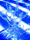 Abstract  wine glasses Royalty Free Stock Photo