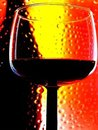 Abstract Wine Glassware Design Stock Photo