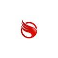 Abstract wing air logo