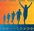 Abstract Winning Athlete Royalty Free Stock Photo