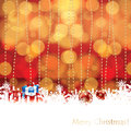Abstract winter christmas background with gifts and tree in background Stock Photography