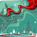 Abstract winter design Royalty Free Stock Images