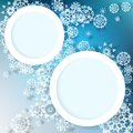 Abstract winter design with snowflakes eps this is editable vector illustration Royalty Free Stock Photography