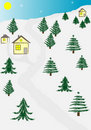 Abstract winter house background Royalty Free Stock Photos