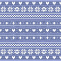 Abstract winter ornament background with hearts and snowflakes Royalty Free Stock Images