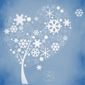Abstract winter tree Royalty Free Stock Photo