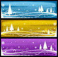 Abstract winter web design Stock Photos