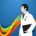 Abstract world health day concept with illustration of doctor Royalty Free Stock Images