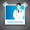 Abstract world health day concept with illustration of doctor Royalty Free Stock Photos