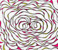 Abstract worms styled pattern. Spiral ink rose. Illustration for background, textile, wrapping paper Royalty Free Stock Photo