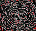 Abstract worms styled pattern. Spiral ink rose. Illustration for background, textile, wrapping paper. Gothic colors Royalty Free Stock Photo