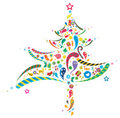 Abstract Xmas tree Royalty Free Stock Images