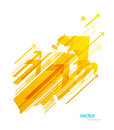Abstract yellow arrows background wallpaper. Royalty Free Stock Photo