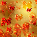 Abstract yellow background with orange ribbons Royalty Free Stock Images