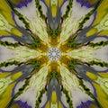 Abstract yellow blue pattern texture, kaleidoscope seamless background Royalty Free Stock Photo