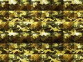 Abstract yellow green brown camouflage fabric with fur texture design Royalty Free Stock Photo