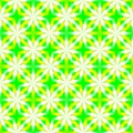 Abstract yellow, green and white floral pattern. Simple petal texture background. Seamless illustration.