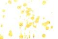Abstract yellow ink splash