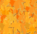 Abstract yellow leaves background autumn picture vector