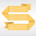 Abstract yellow origami banners vector eps Stock Photography