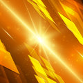 Abstract yellow technology background with bright flare vector illustration Stock Photo