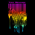 The abstract  zebra silhouette with barcode Royalty Free Stock Image