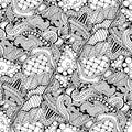 Abstract zen art doodle native seamless pattern.
