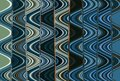 Abstract Zigzag Pattern With Waves In Blue, Green, Black Tones. Artistic Image Processing Created By Christmas Tree Toy Photo