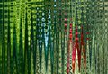 Abstract Zigzag Pattern With Waves In Blue, Green, Red Tones. Artistic Image Processing Created By Christmas Tree Toy Photo. Beaut