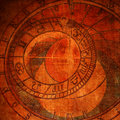 Abstract zodiac clock Royalty Free Stock Photography