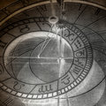 Abstract zodiac clock Royalty Free Stock Photos