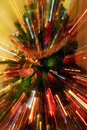 Abstract Zoomed Christmas Tree Royalty Free Stock Photography