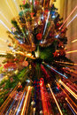 Abstract Zoomed Christmas Tree Stock Photo