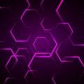 Abstracte achtergrond met violette zeshoek Stock Foto