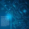 Abstracte hi-tech blauwe achtergrond. Royalty-vrije Stock Afbeeldingen