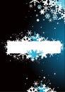 Abstracte sneeuwvlokachtergrond Stock Foto's