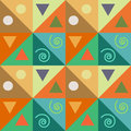 Abstraction abstract seamless triangles pattern with decor Stock Photography