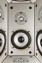 Abstraction of acoustics,load speaker Royalty Free Stock Photography