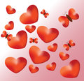 Abstraction Background with hearts Stock Photography