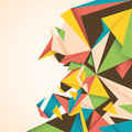 Abstraction with colorful angular shapes Royalty Free Stock Photos