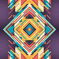 Abstraction colorful with geometric design Stock Images