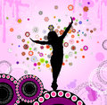 Abstraction with a dancing girl vector illustration of Royalty Free Stock Photos